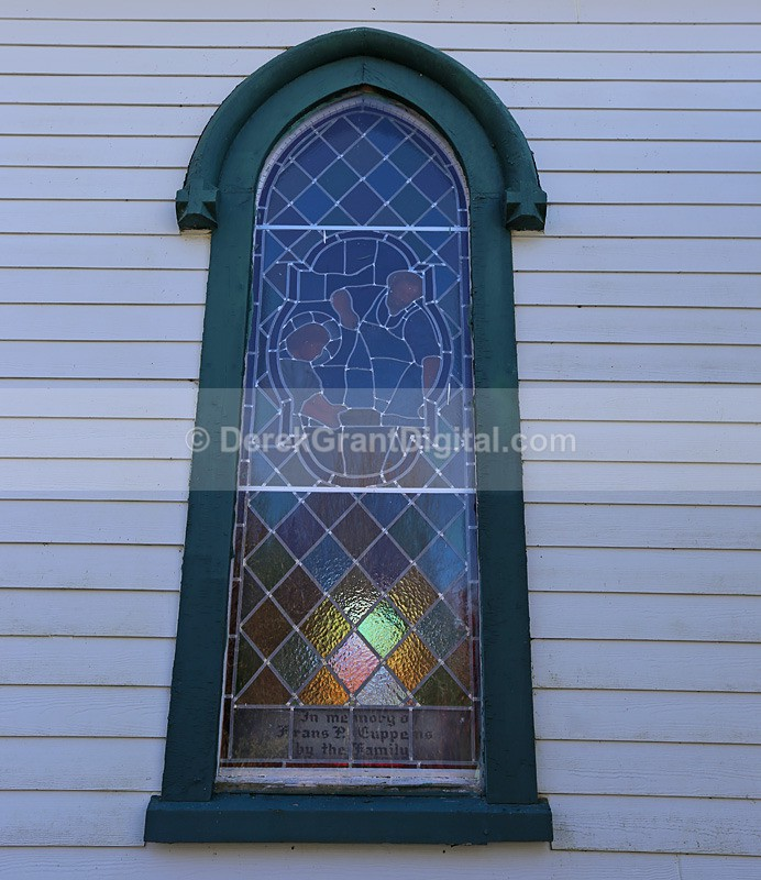 Stained Glass, St. Bridget's Church ~ New Brunswick, Canada - Churches of New Brunswick