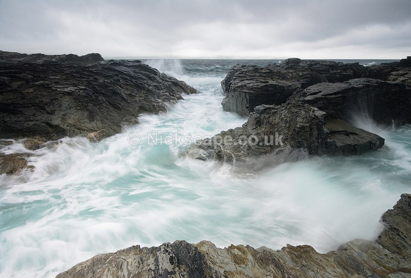 Godrevy Lighthouse Rocky Seascape - Cornwall, UK - Cornwall