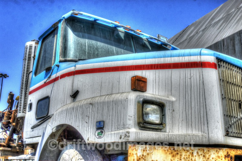 Namibia Walvis Bay desert White GMC truck 3 HDR - High Dynamic Range pictures