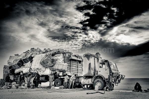 Transit, Truck, Migrants, Madama, Sahel, Niger