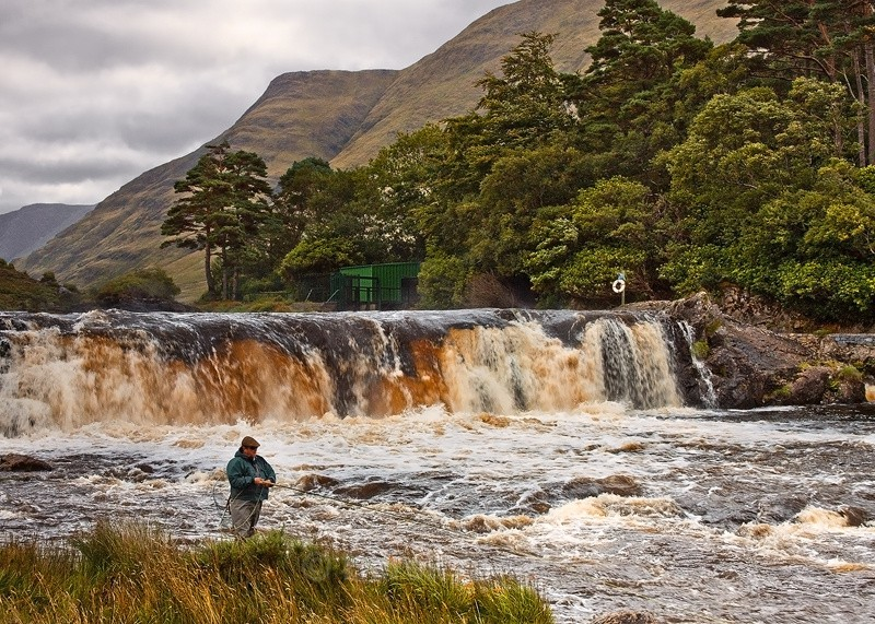 Salmon Fishing At Aasleagh Falls