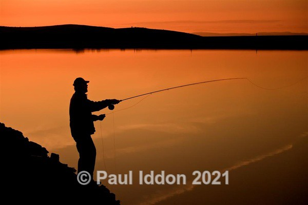 Fly Fishing at Sundown - Landscapes