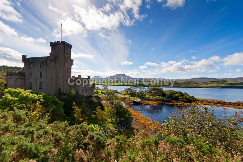 Dunvegan Castle, Dunvegan Loch, Isle Of Skye - Landscape format