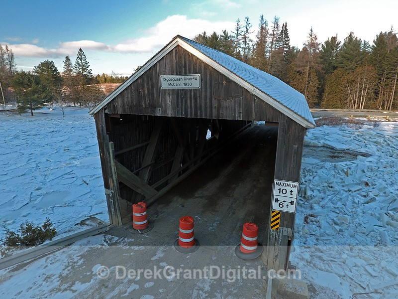 Digdeguash Covered Bridge #4 McCann 1938 - Covered Bridges of New Brunswick