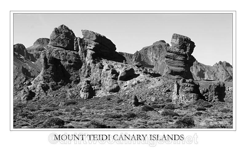 Tenerife Teidi rockscape - Tenerife Mount Teidi