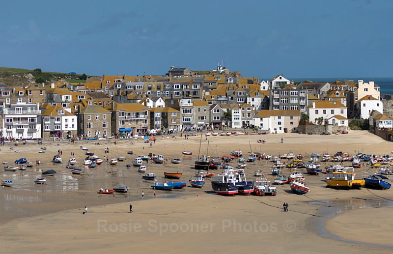 CW08 - St Ives Town Beach - GREETINGS CARDS - Cornwall Misc and Plymouth