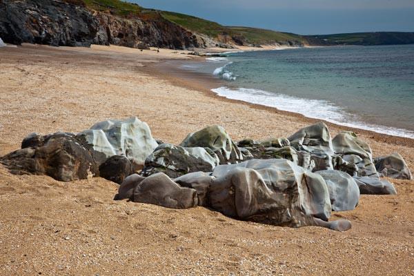 Rocks on Porthleven Beach - Landscape