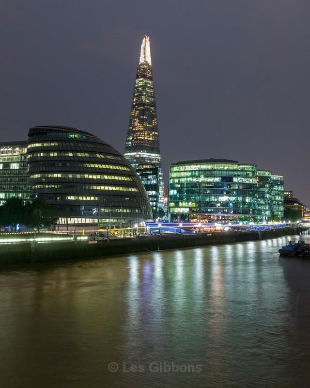Shard at night - London