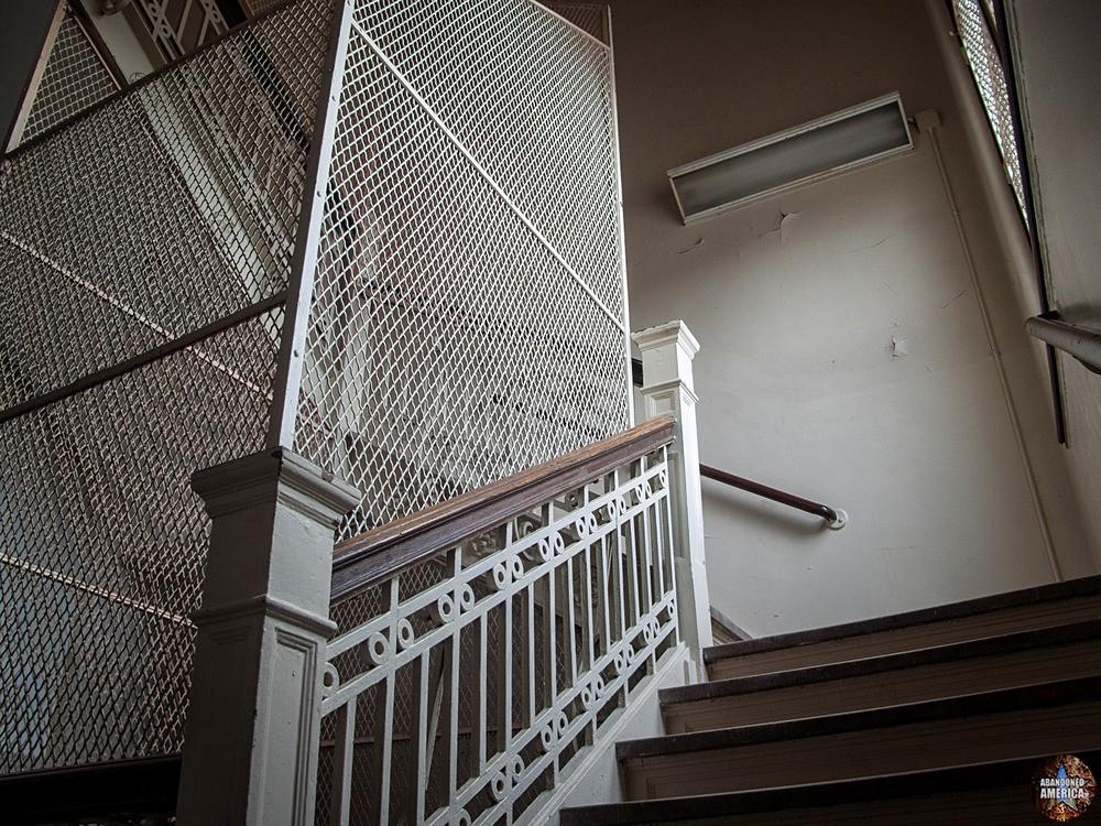 Overbrook Asylum (Cedar Grove, NJ) | Suicide-Proof Stairwell - The Essex County Hospital Center