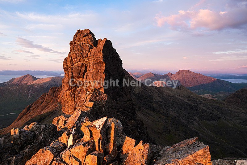 Am Bastier and the Bastier Tooth, Cuillin ridge, Isle of Skye - Landscape format