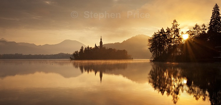 Sunrise Over Lake Bled | Lakeside Morning Bled Slovenia