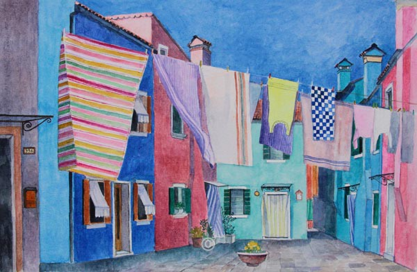 Washing, Burano. - New Works