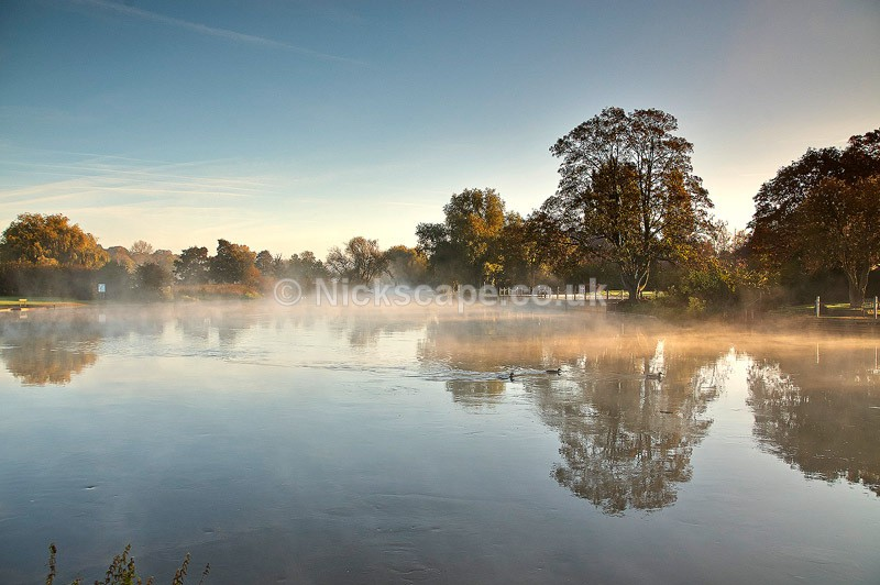 Misty River Avon at Dawn - Stratford upon Avon, Warkwickshire - Warwickshire