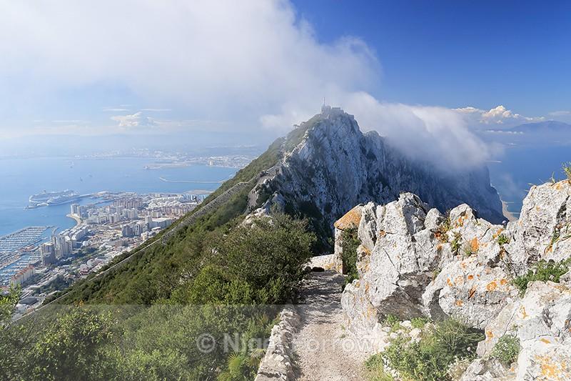Levanter cloud forming over the Rock of Gibraltar - Gibraltar