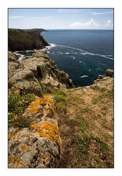 Lichen covered Rock - Cornwall
