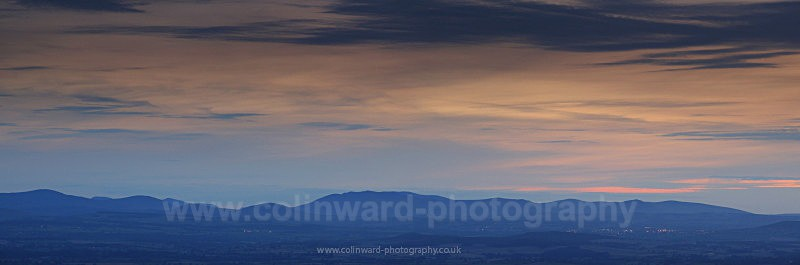 Twighlight over Keswick - The Pennines and The Lake District