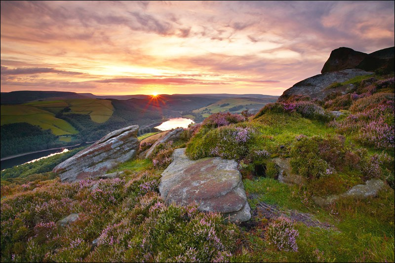 Whinstone Lee Tor Sunset - Peak District | Dark Peak