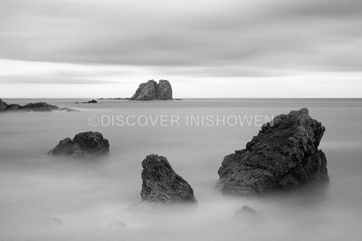 Lackgolana(Saddle Rock) - Inishowen peninsula- B&W