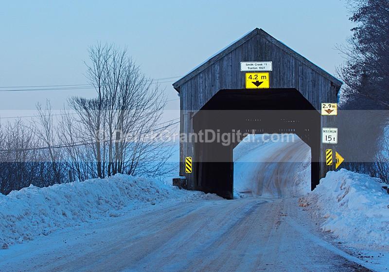 Tranton Covered Bridge Smith Creek #1 Roachville New Brunswick Canada - Covered Bridges of New Brunswick
