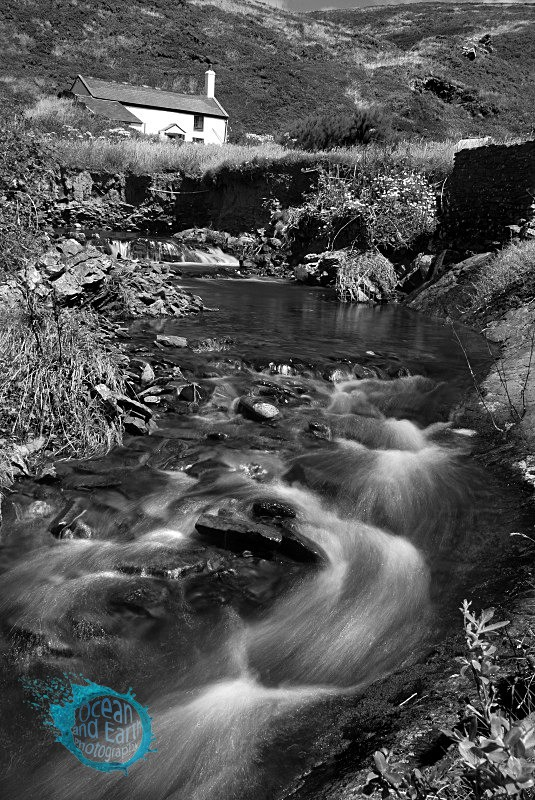 Duckpool Cottage B&W - Black and White