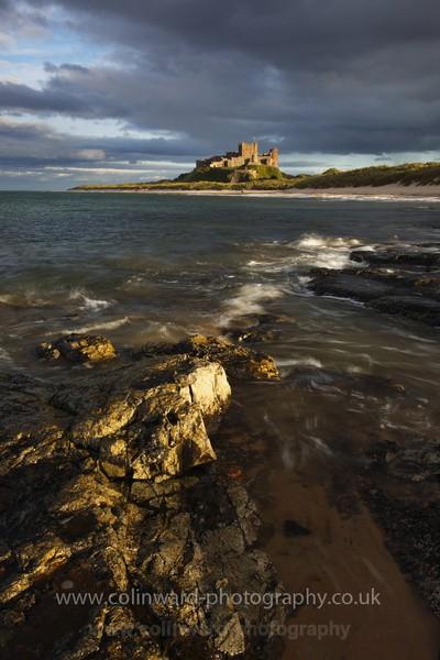 bamburgh beach.  ref 2044 - Northumberland