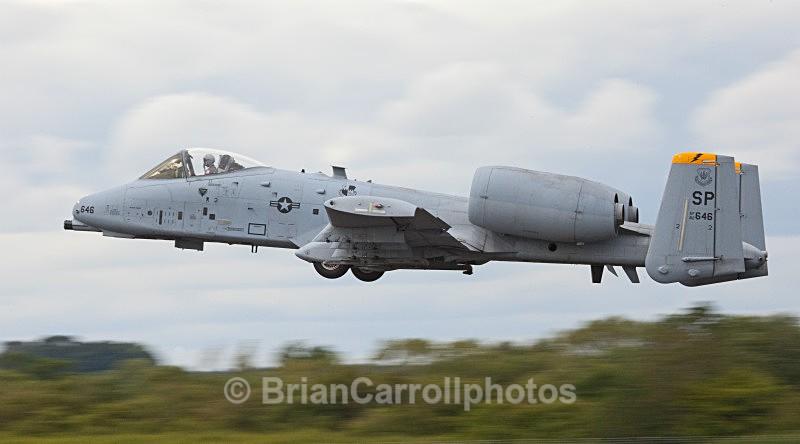 USAF Fairchild Republic A10 'Warthog'Thunderbolt 2 - RAF Fairford RIAT 2009 - 2014 Airshows