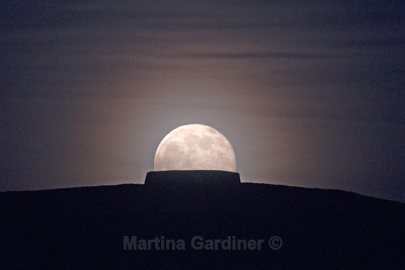 Full Moon Rising - At Grianan of Aileach - Ireland by Night