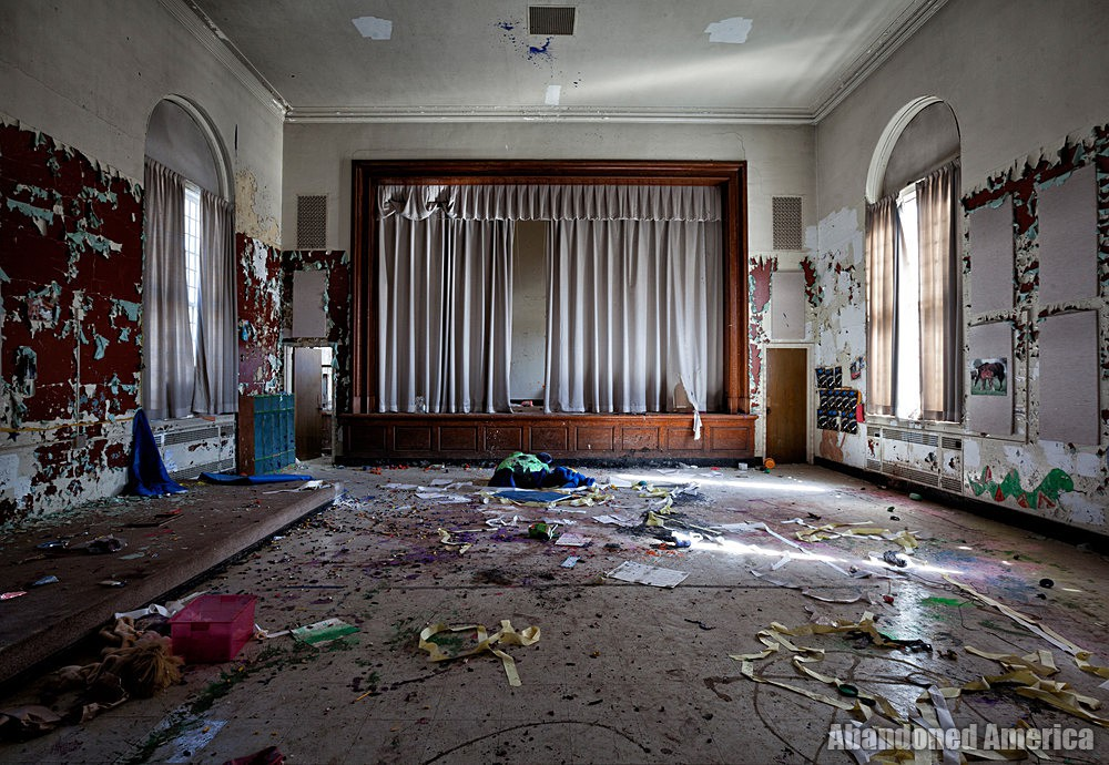 Rockland State Hospital (Orangeburg, NY) | Vandalized Theater - Rockland State Hospital