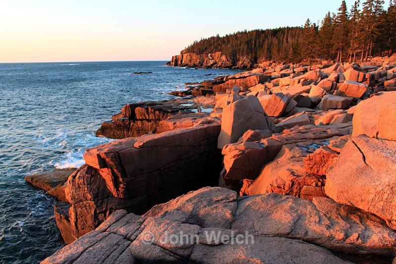 Otter Cliffs at Sunrise - Maine