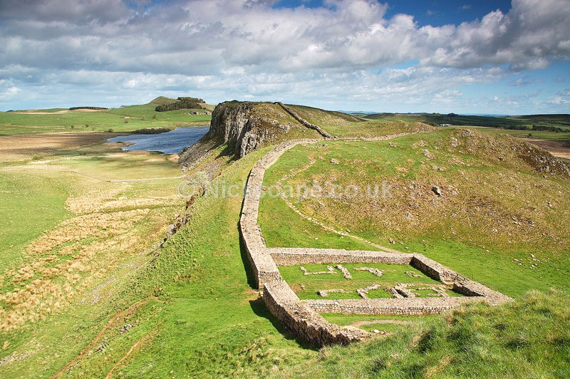 Roman Wall Fort at Steel Rigg on Hadrians Wall   Northumberland Landscape Photography