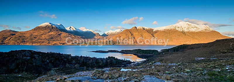 The Torridon Hills, Upper Loch Torridon, Highland - Panoramic format