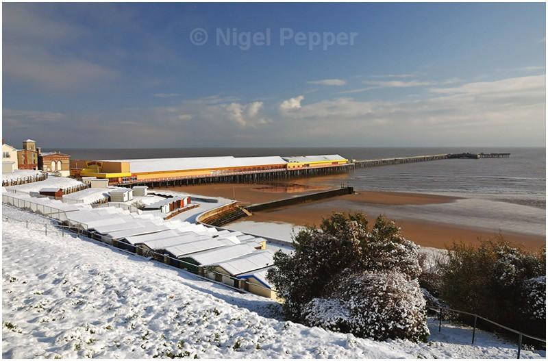 Walton Pier in Winter - Snow Pictures