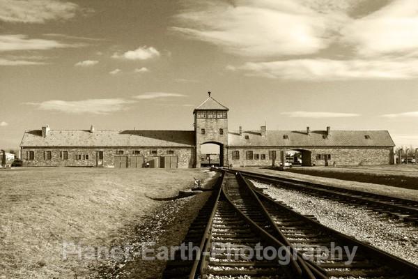 Hells Gate Ralway Track Into Camp - Auschwitz