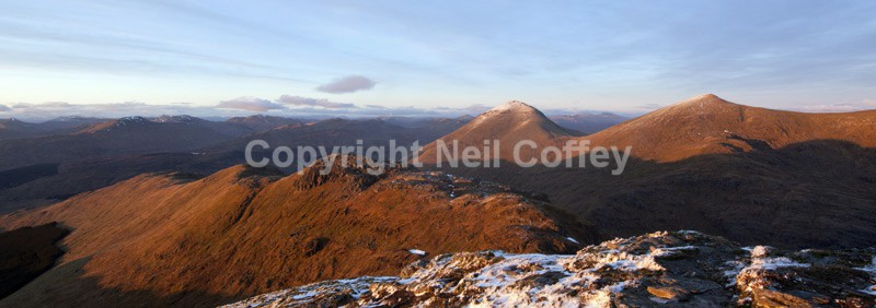 Ben More & Stob Binnean from Cruach Ardrain, Stirlingshire - Panoramic format