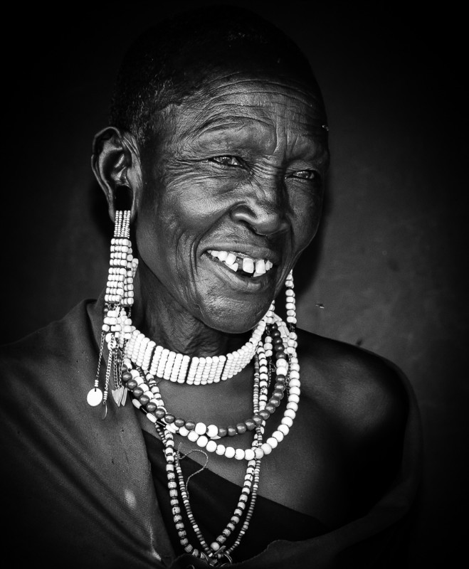 Masaai Elder - Monochrome Imagery