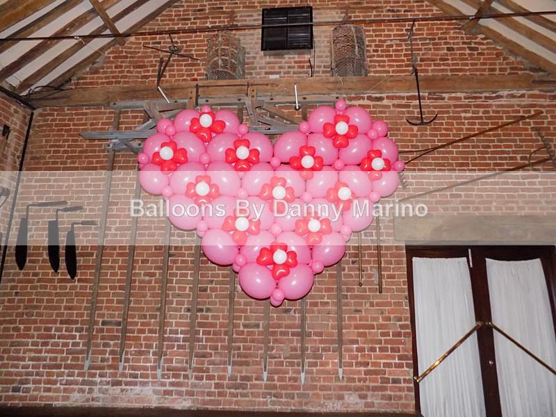 embellished Heart - Wedding Balloon Photos