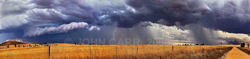 Burra Lightning Panorama-1 - A STORMY MONDAY & FRIDAY-NOVEMBER 2012