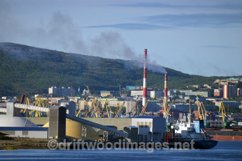 Murmansk harbour chimneys   - Murmansk, Russia