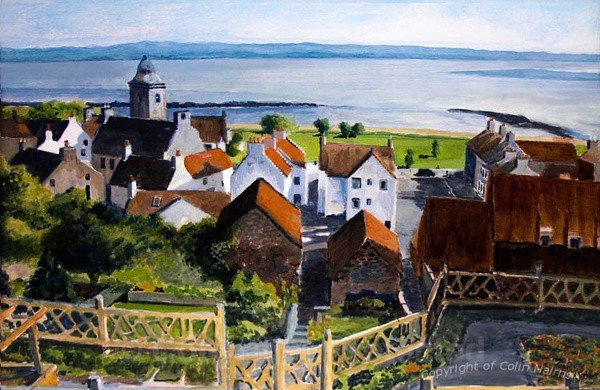 Culross, Fife from above - Original Work FOR SALE
