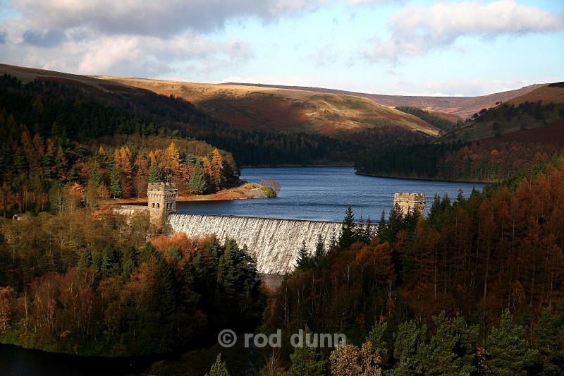 Howden Dam overflowing - Peak District