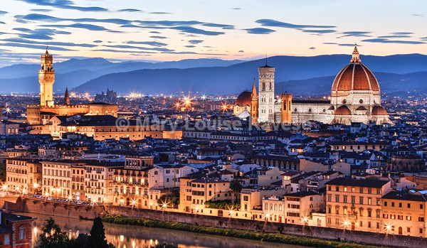 Florence Skyline at Twilight - Travel