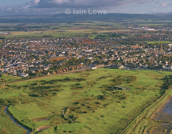 Prestwick 16th aerial - Prestwick Golf Links
