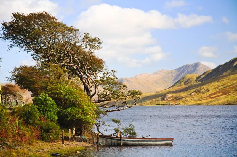 Boat on lake - West of Ireland