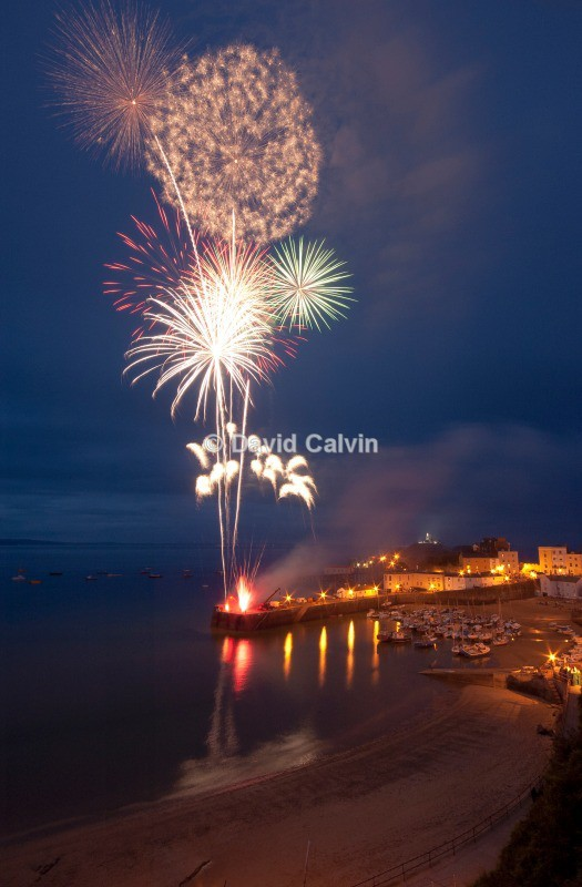 Tenby Habour Fireworks - Nocturnal