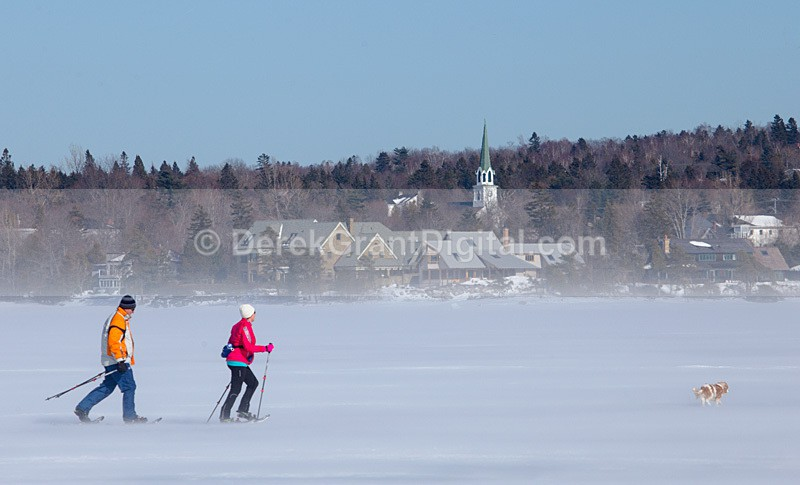 Snowshoeing Kennebecasis Bay @ Rothesay, New Brunswick Canada - Sport & Recreation