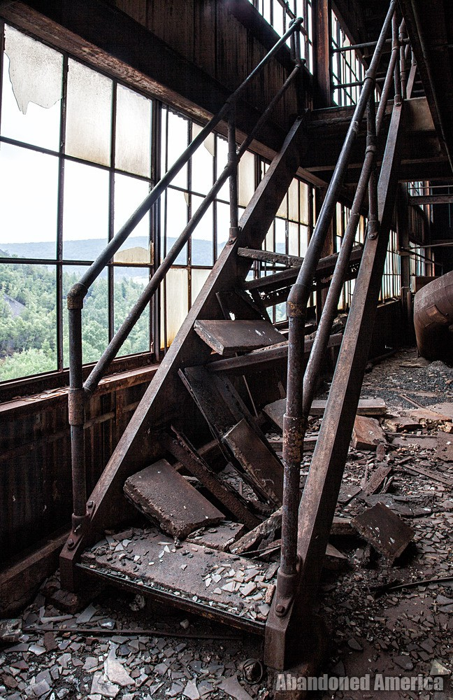 St. Nicholas Coal Breaker (Mahanoy City, PA) | Rusted Stairway - St. Nicholas Breaker