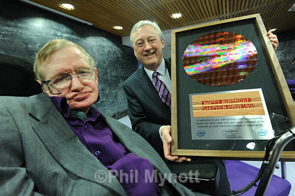 Prof Stephen Hawking Portrait photo Cambridge Uk Cambridge professional Photographer Phil Mynott
