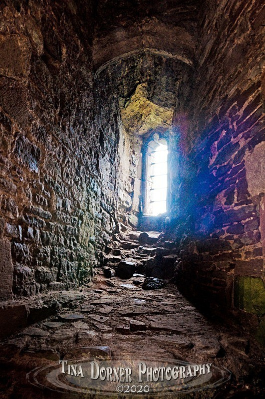 Blue Light in Castle Window from 'Hidden Stone,' Forest of Dean and Wye Valley Portfolio by Tina Dorner Photography
