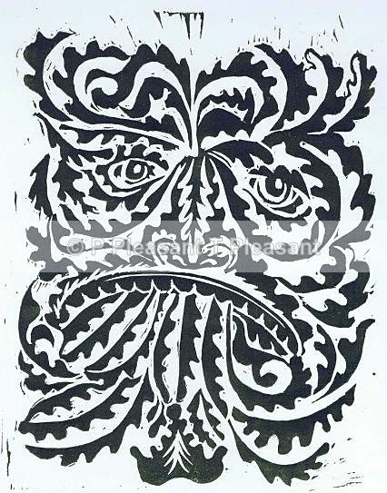 Green man - Handmade prints - print only