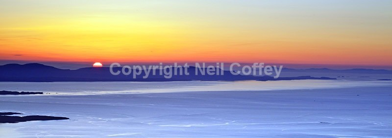 Hebridean sunset from Beinn Alligin, Highland - Panoramic format